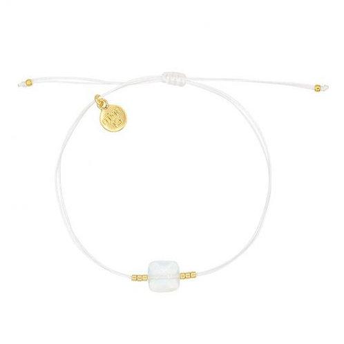 Opal Stein Armband - Weiß