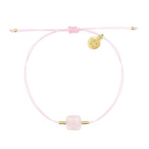 Rosenquarz Armband - Soft Pink