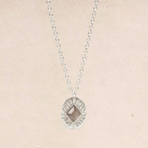 Kette Labradorite Diamond Striped