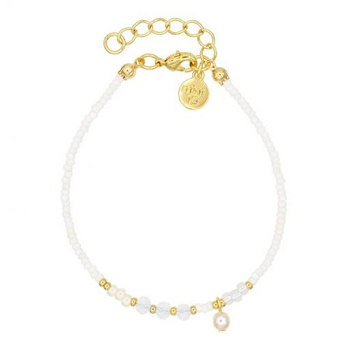 Mix Armband - Weiß & Perle