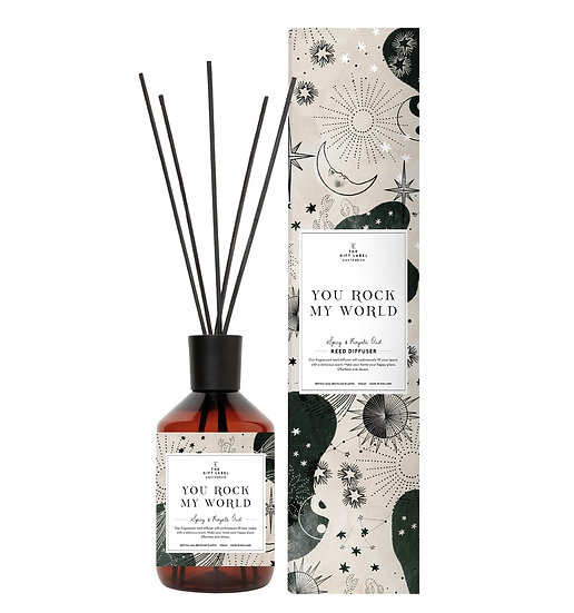 """Reed Diffusor  """"You rock my world"""" - Spicy and Royal oudh - The Gift Label"""