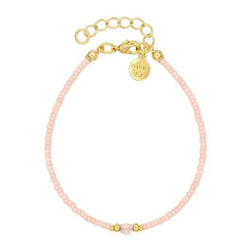 Diamantarmband - Soft Pink