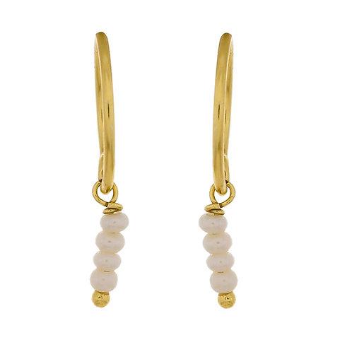 Ohrringe Pearl gold