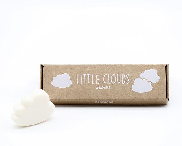 Little Clouds - 3 Gästeseifen, weiß