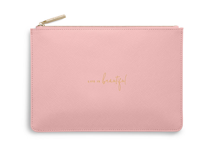 """Perfect Pouch """"Life is beautiful"""""""