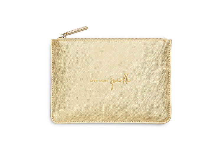 "Petite Perfect Pouch ""Live Love Sparkle"""