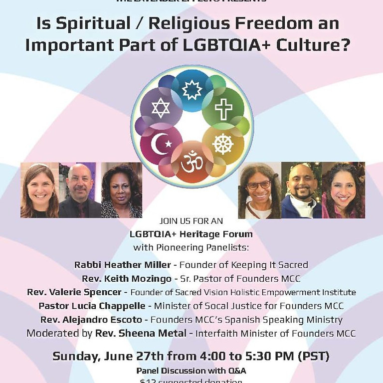 LGBTQIA+ Heritage Forum with Pioneering Panelists