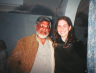With Arun Ghandi (Mahatma Ghandi's grandson) in India