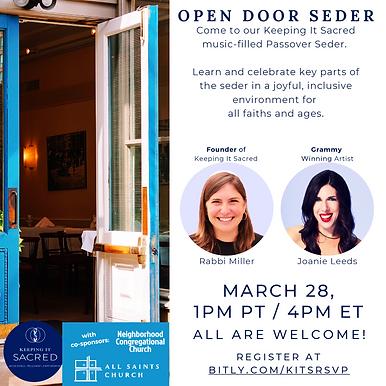 Open Door Seder with CoSponsors.TIF