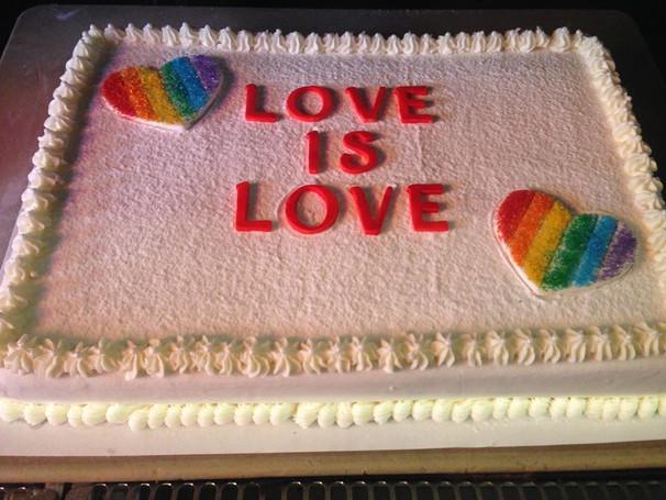 Legal Marriage Celebration Cake