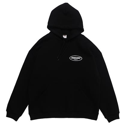 logo hood / black