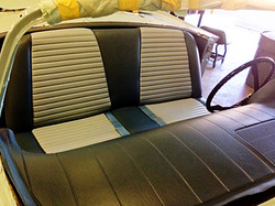1957 Ford T-Bird Two-Tone Gray Seat