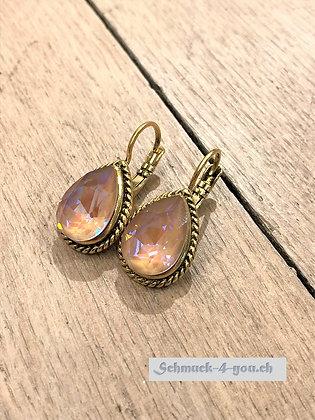 Ohrhänger vergoldet, diverse Farben
