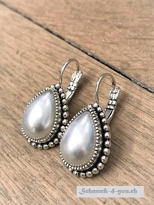 Ohrhänger Tropfen gross mit Perle