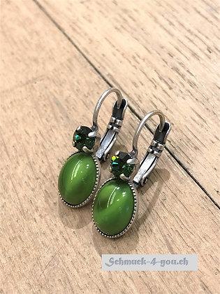 Ohrhänger grün mit Swarovski