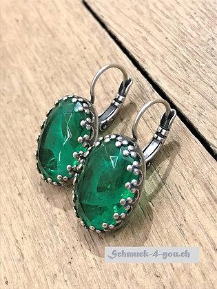 Ohrhänger dunkelgrün