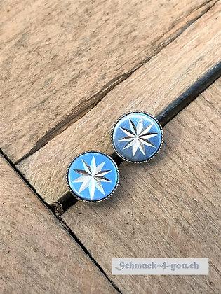 Ohrstecker blau mit Stern