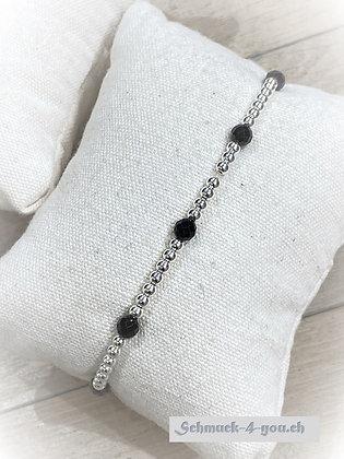 arubaS Armband – Silberkugeln mit Spinell