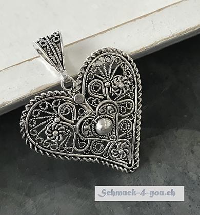 Herzanhänger aus Silber 925