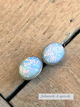 Ohrstecker opal lila