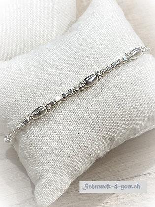 ArubaS Armband – länglichen Silberteilen