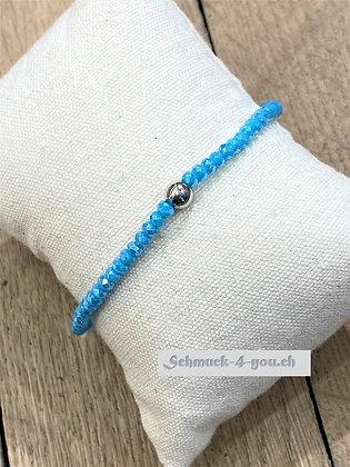 arubaS Armband – Kristall türkis