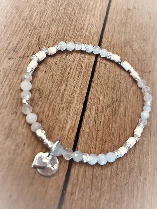 ArubaS Armband - Monstein, Silberzwischenteile, Muschelscheiben