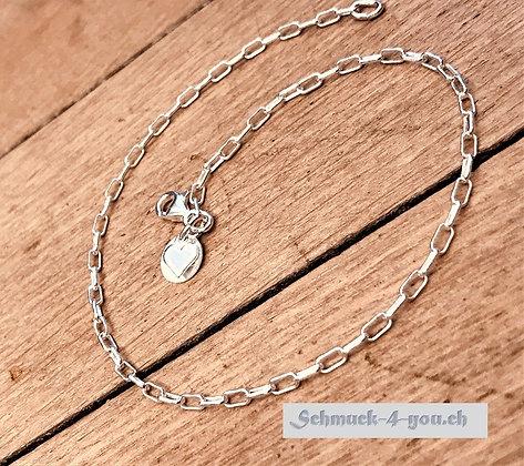 Fussketteli Silber Glieder klein, Silber 925