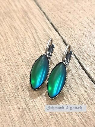 Ohrhänger oval grün