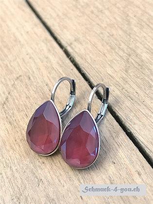Ohrhänger Swarovski-Pear dark red