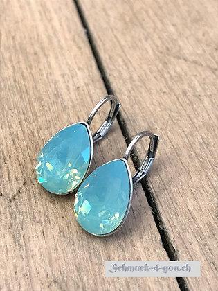 Ohrhänger Swarovski-Pear pacific opal