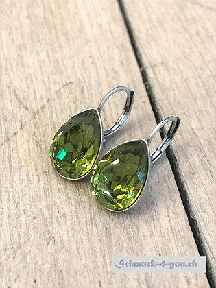 Ohrhänger Swarovski-Pear olive