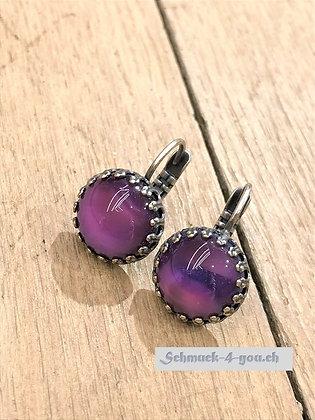 Ohrhänger rund violett