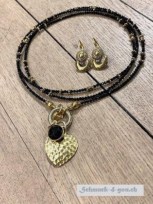 ArubaS Spinell mit Silberteile vergoldet