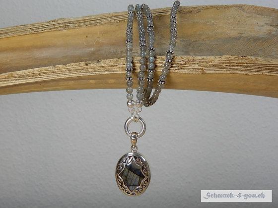 Labradorit-Halskette mit Anhänger