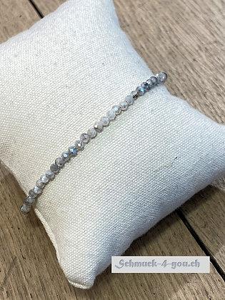 arubaS - Armband mit Labradorit bedampft und einem Karabinerverschluss