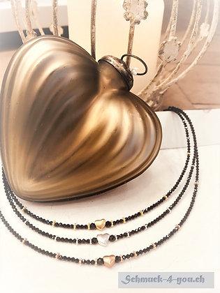 ArubaS Halskette Spinell mit Herz