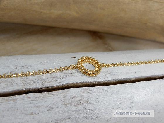 Steinkult – Bracelet Circles «Anais» Mini, vergoldet