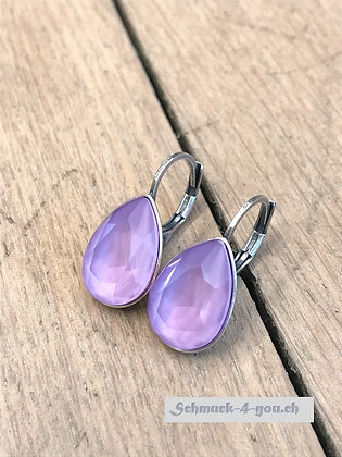 Ohrhänger Swarovski-Pear lilac