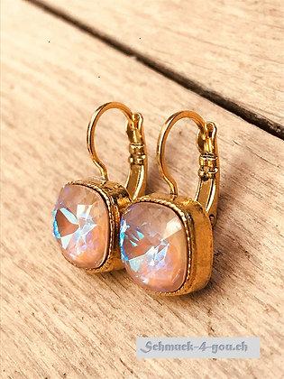 Ohrhänger, vergoldet, diverse Farben