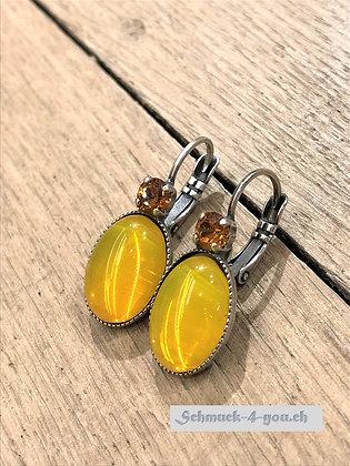 Ohrhänger gelb-orange mit Swarovski