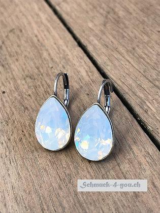 Ohrhänger Swarovski-Pear white opal
