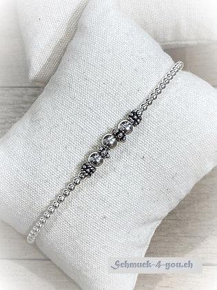arubaS - Armband Silberkugeln und weitere Silberteile