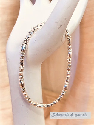 ArubaS Armband – Silber 925, 3mm + 7mm
