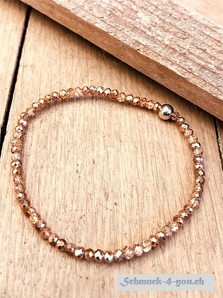 ArubaS Armband – geschliffene Kristalle, rosegold