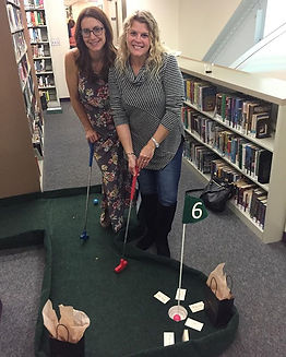The Stratford library mini golf was such