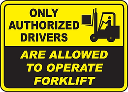 Company policy of operating a forklifr
