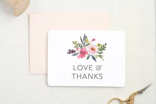 """The Tabitha Shop """"Love & Thanks"""" Card"""