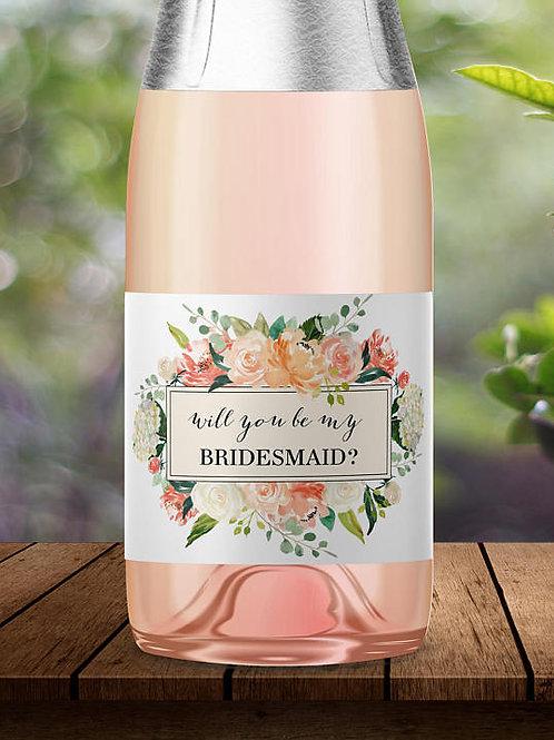 Bridesmaid Mini Champagne Labels