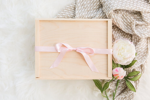 Large Wooden Gift Box with Sliding Lid